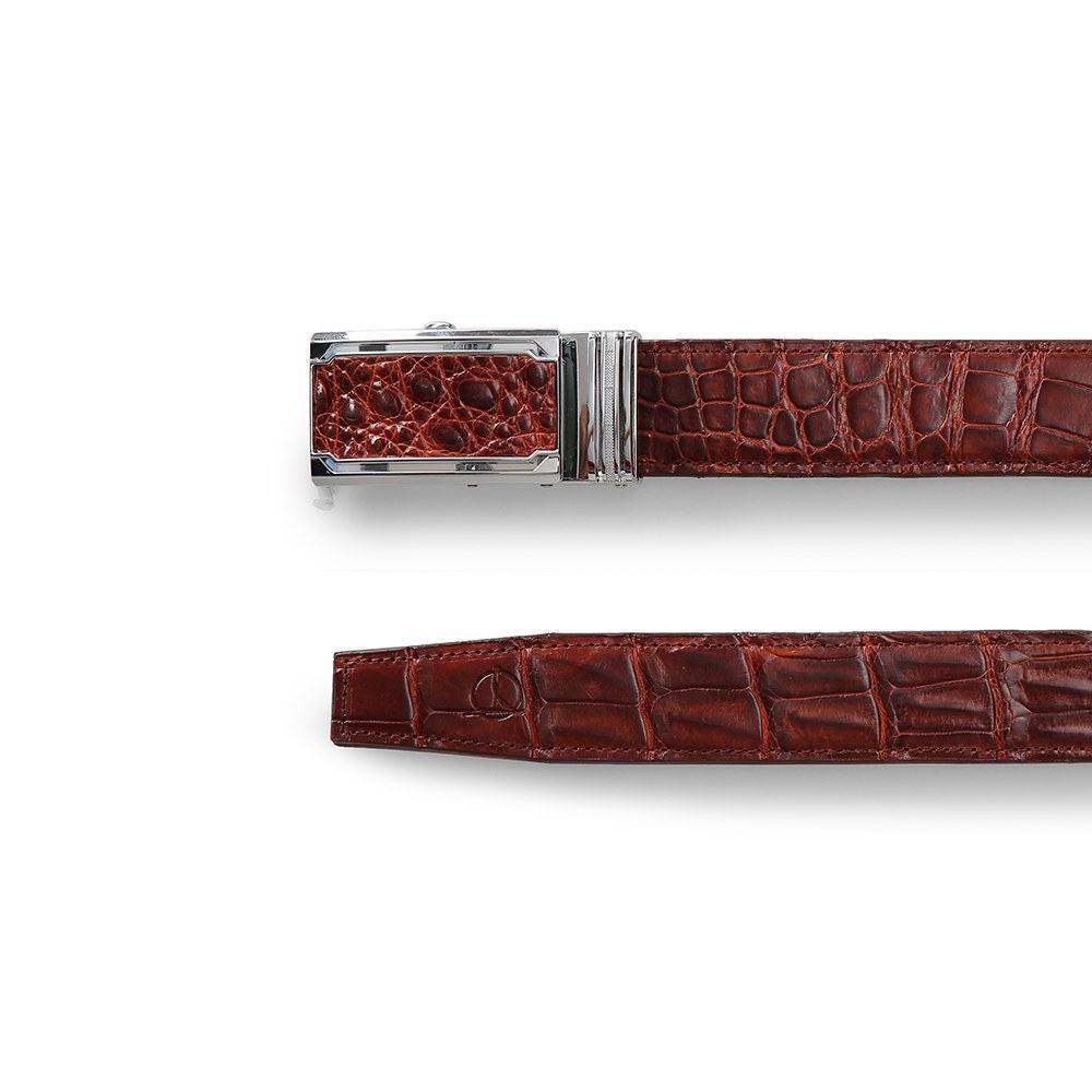 Dây lưng cá sấu dây liền basic màu nâu đỏ DTA1400-03B-T-ND