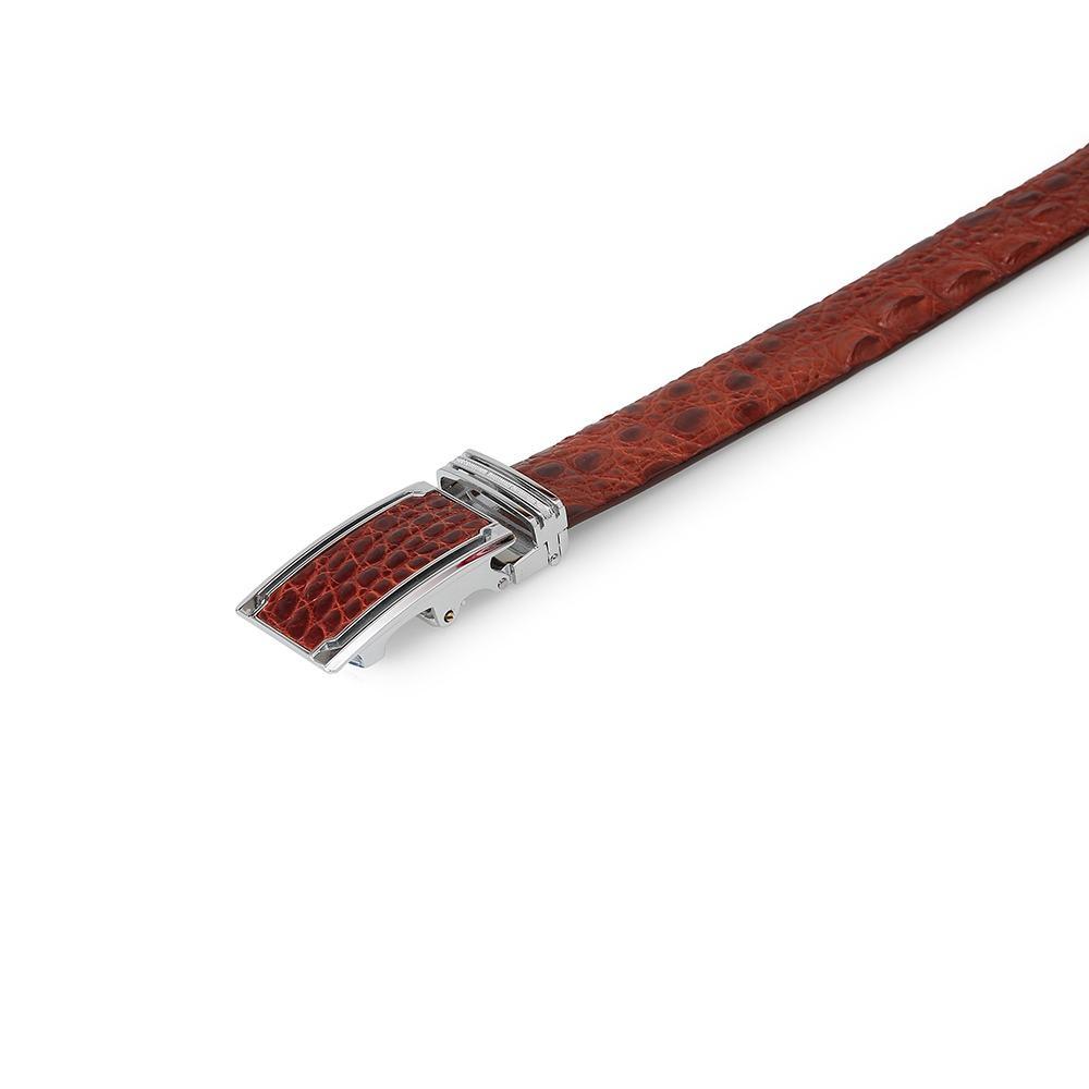 Thắt lưng nam da cá sấu dây liền mặt khóa lăn DTA1400-03B-T-ND