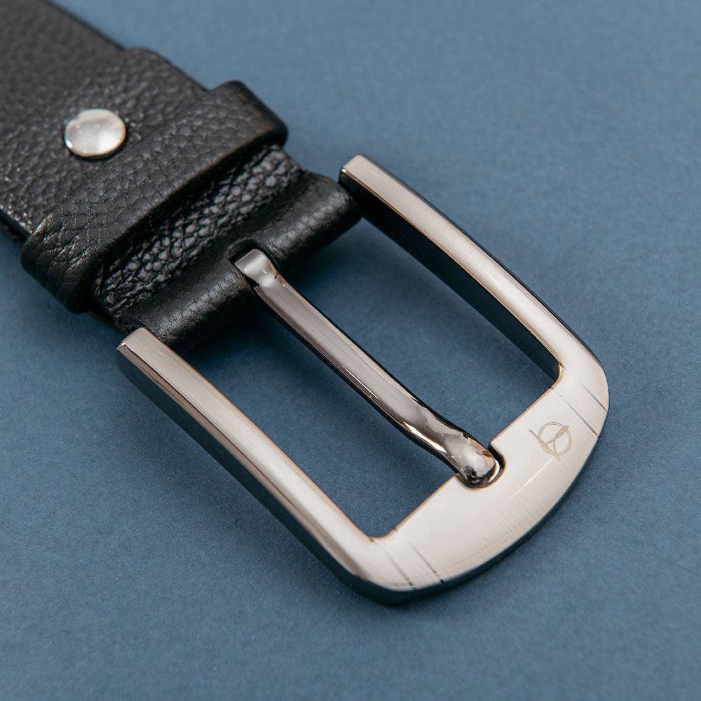 Dây lưng nam da bò mặt khóa xỏ kim D310-181201