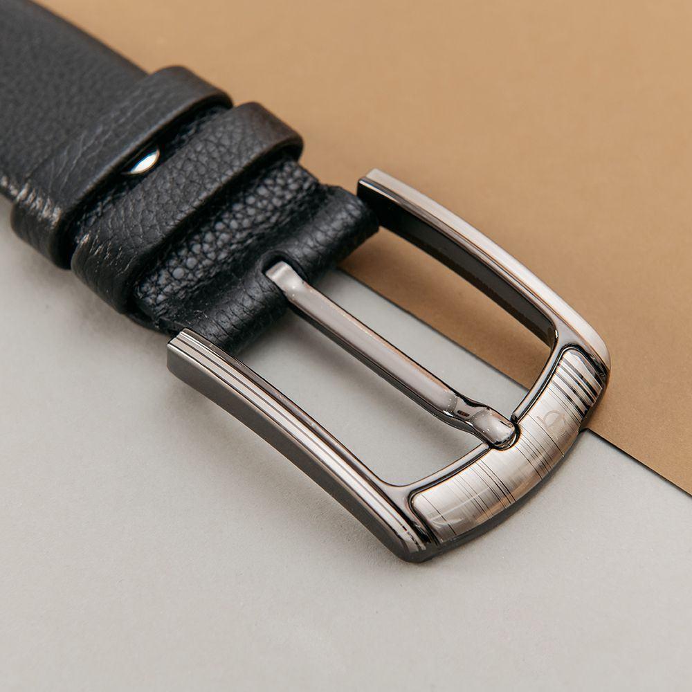 Thắt lưng nam công sở mặt khóa xỏ kim D310-181202