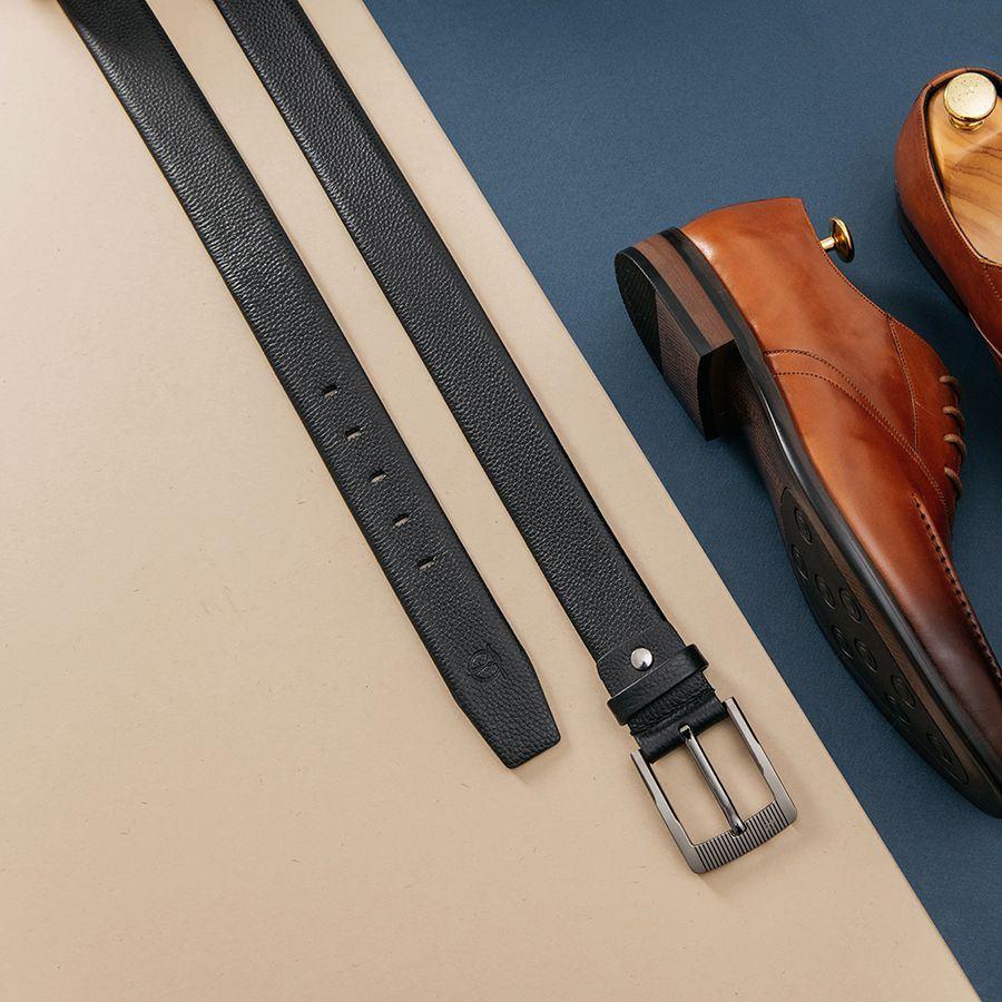 Thắt lưng quần âu mặt khóa xỏ kim D310-181203