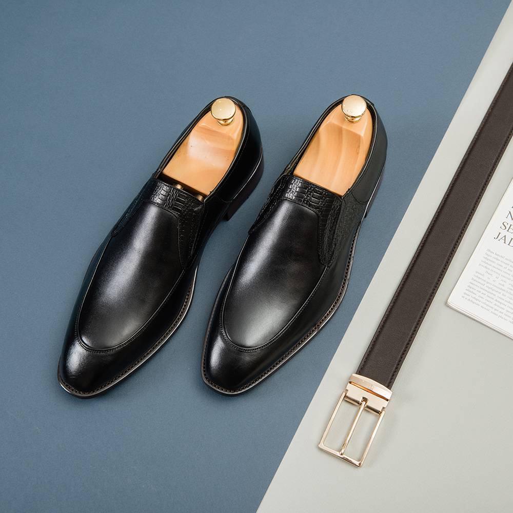 Giày lười nam da bò GNTA8969-D