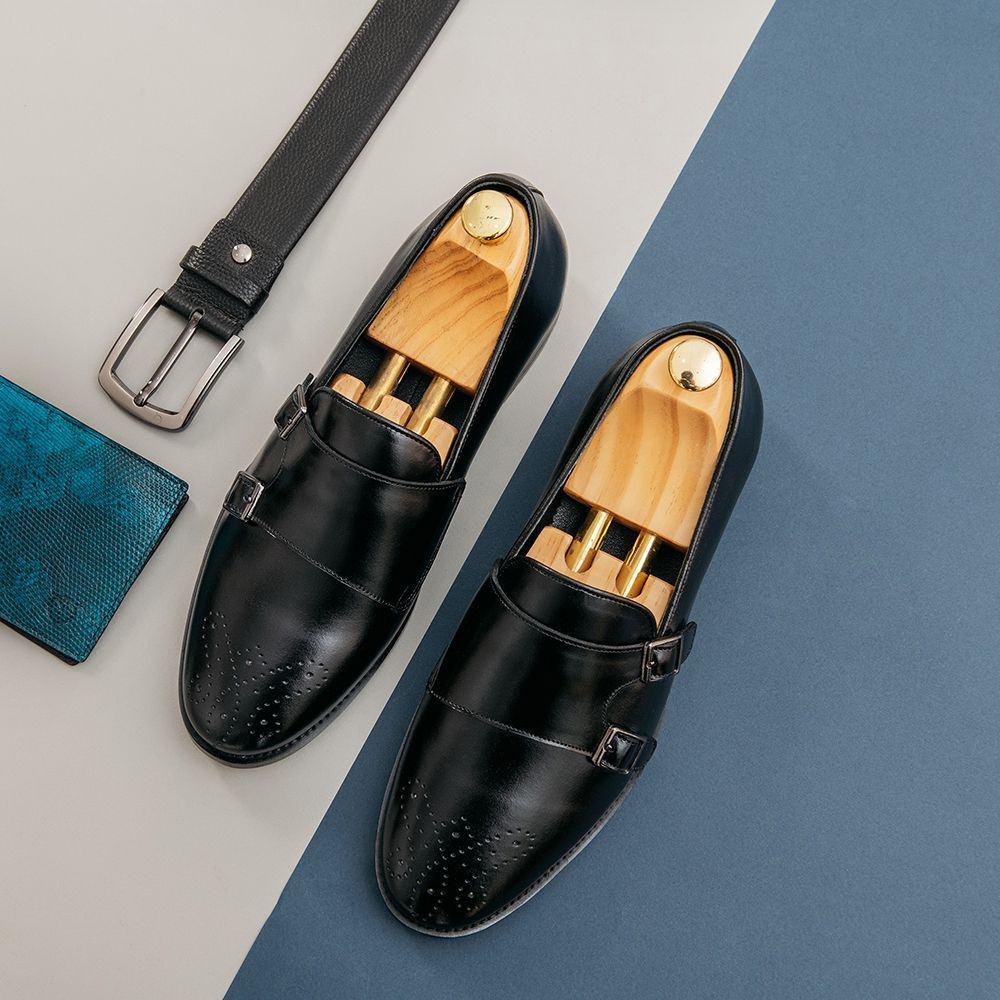 Giày lười nam dáng Monk strap GNTA55.1-D