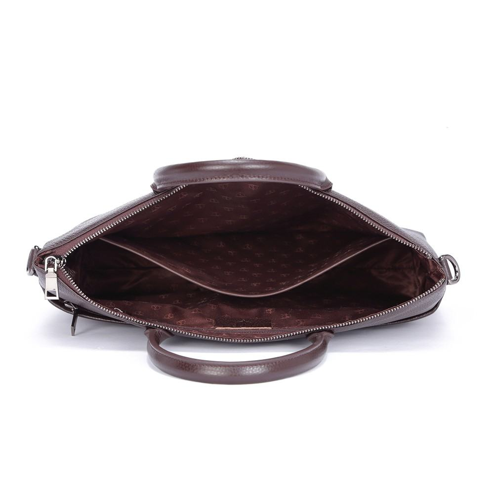 Túi da nam basic màu nâu TTA918110118-N