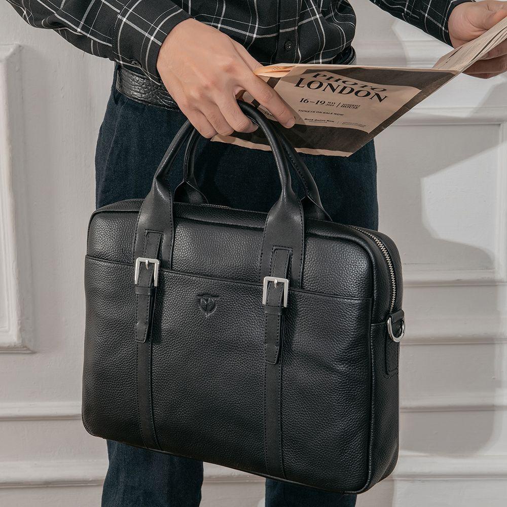 Túi da nam dáng Briefcase TTA918110003-D