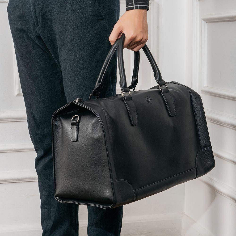 Túi duffel da bò màu đen TTA917403110-D