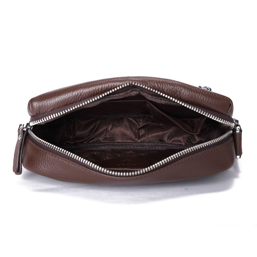 Túi nam đeo chéo màu nâu TTA918210056-N