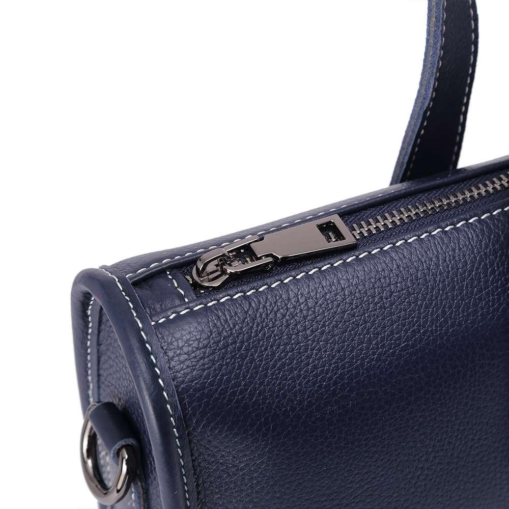 Túi nam xanh navy viền chỉ nổi TTA917205066-X