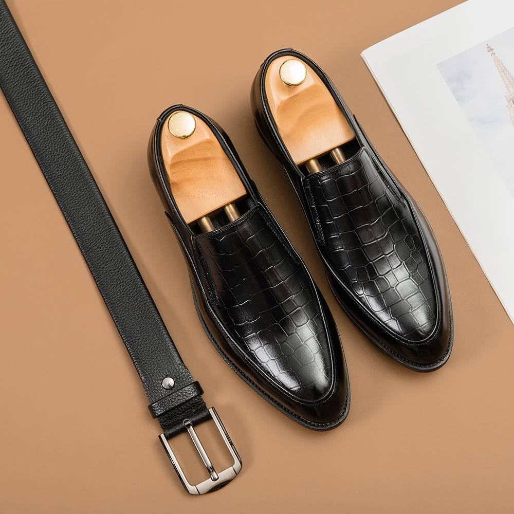 Giày lười nam dập vân GNTA8991-D