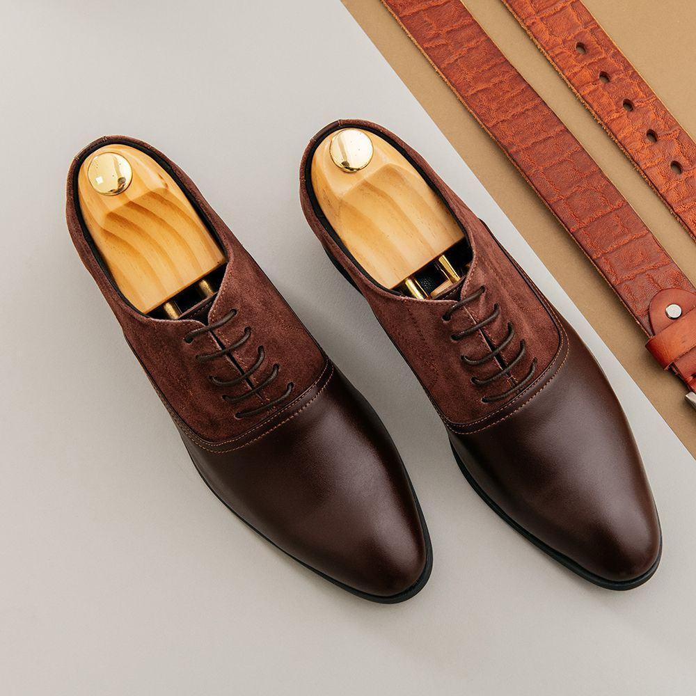 Giày tăng chiều cao phối chất liệu da lộn GCTATC1565-N