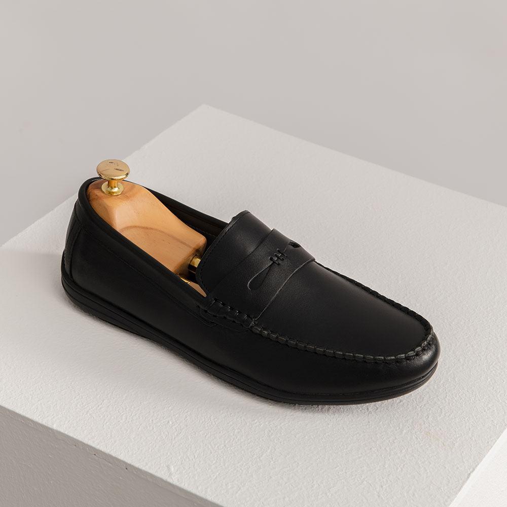 Giày lười da nam quai ngang GNTA19092-D