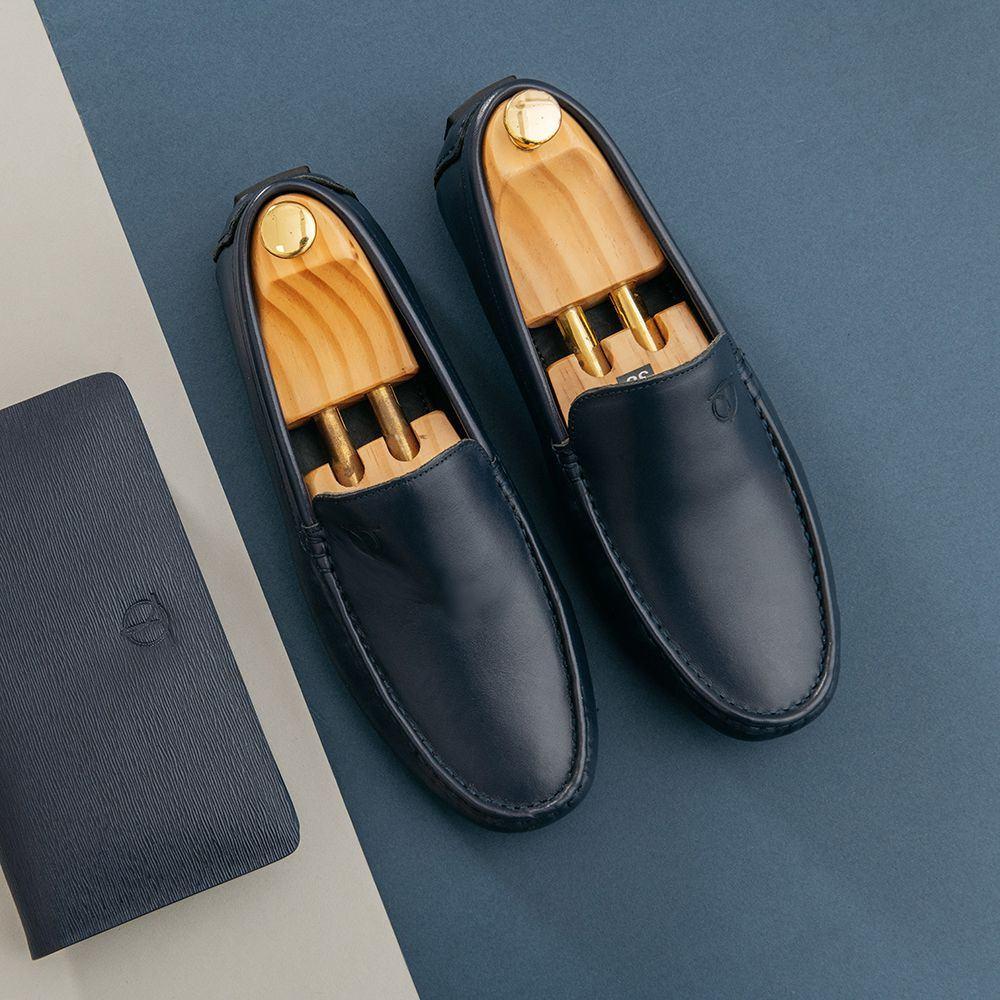 Giày lười nam da bò đế chống trượt GNTA19091-X