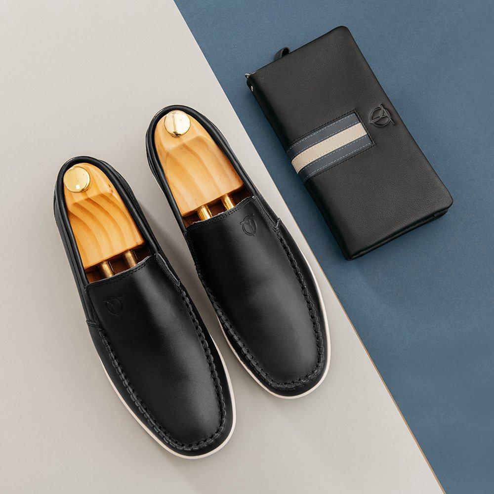 Giày lười da nam đế chống trượt GNTA190904-D
