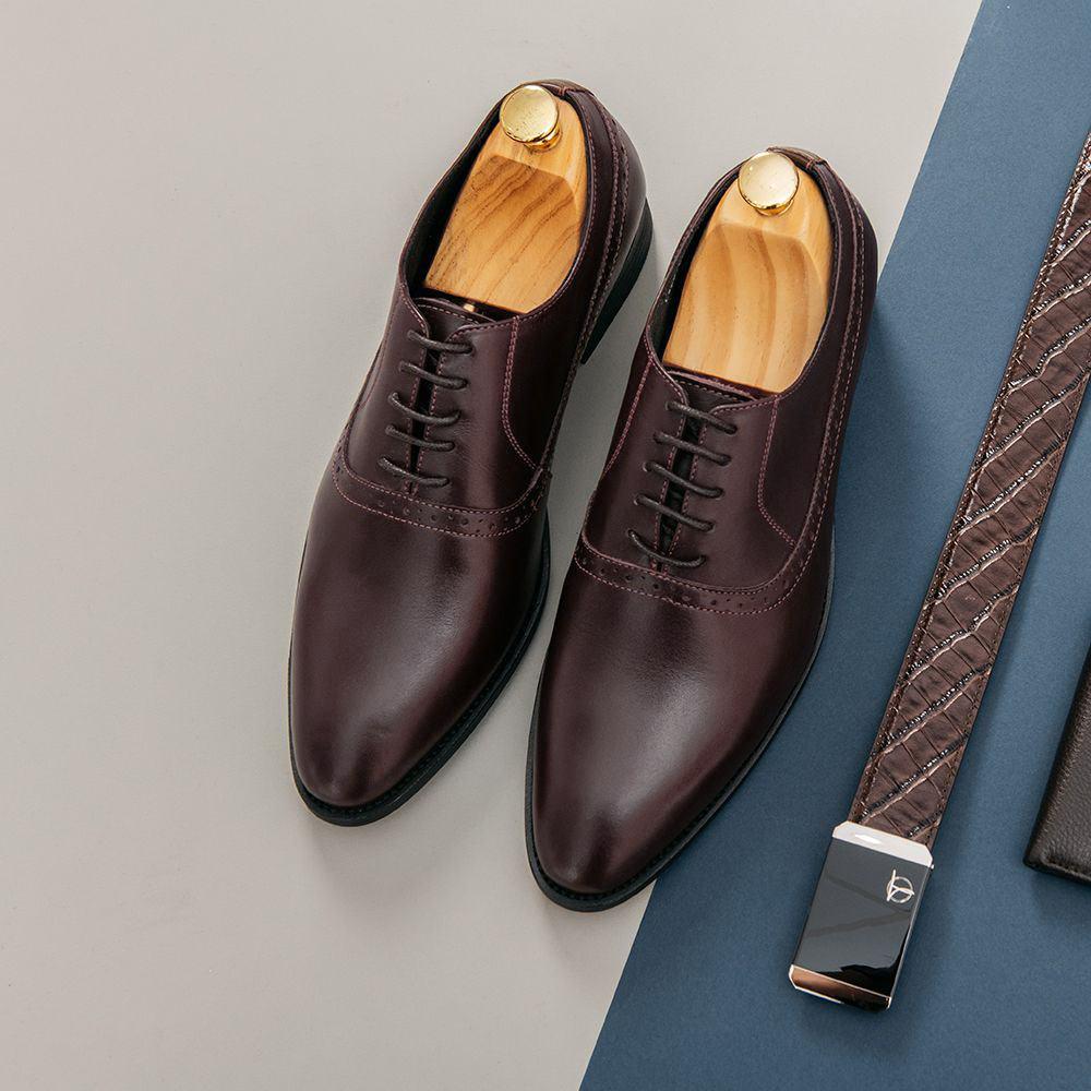 Giày tây nam buộc dây dáng Oxford GNTA0012-N