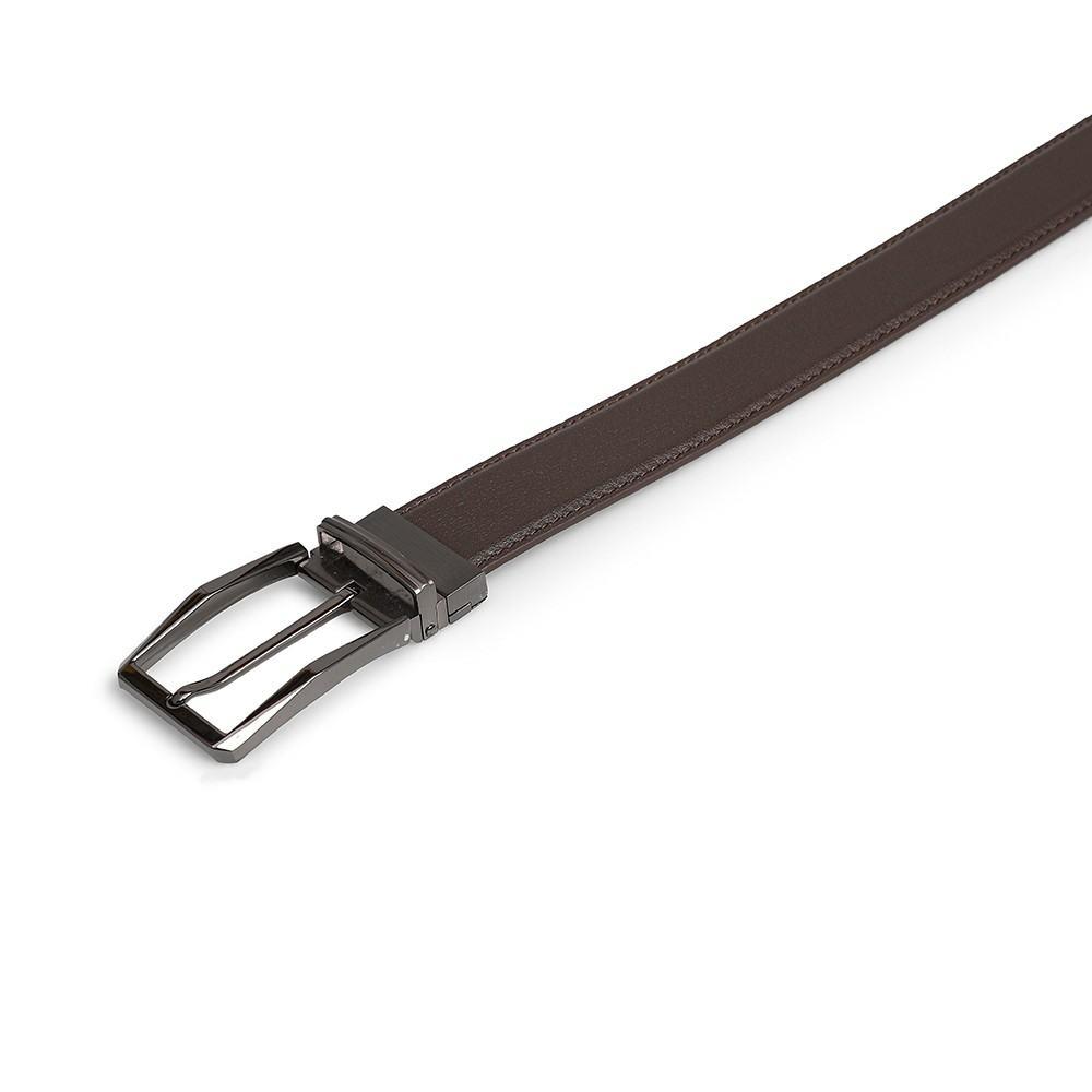 Thắt lưng da bò mặt khóa màu nâu D480-2019809D