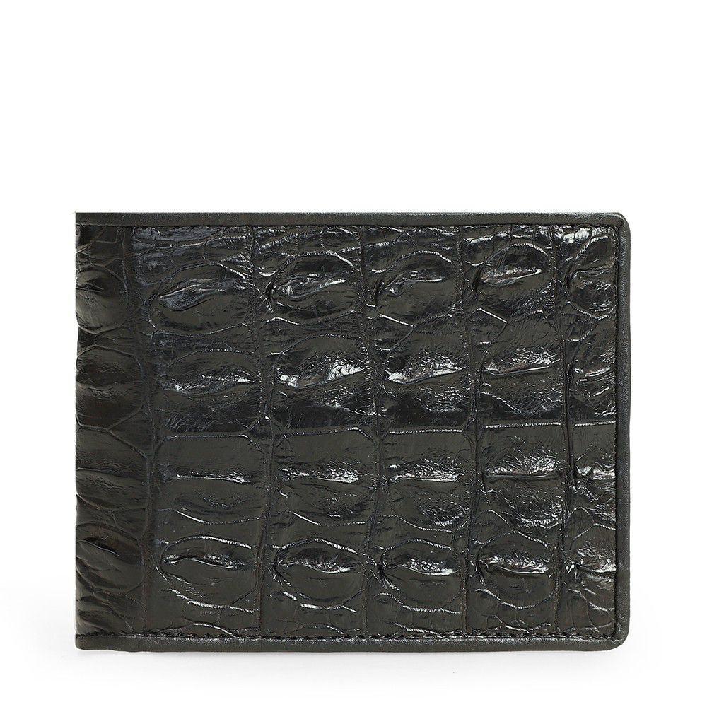 Bóp da cá sấu màu đen 2 mặt VTA1500N-D-D