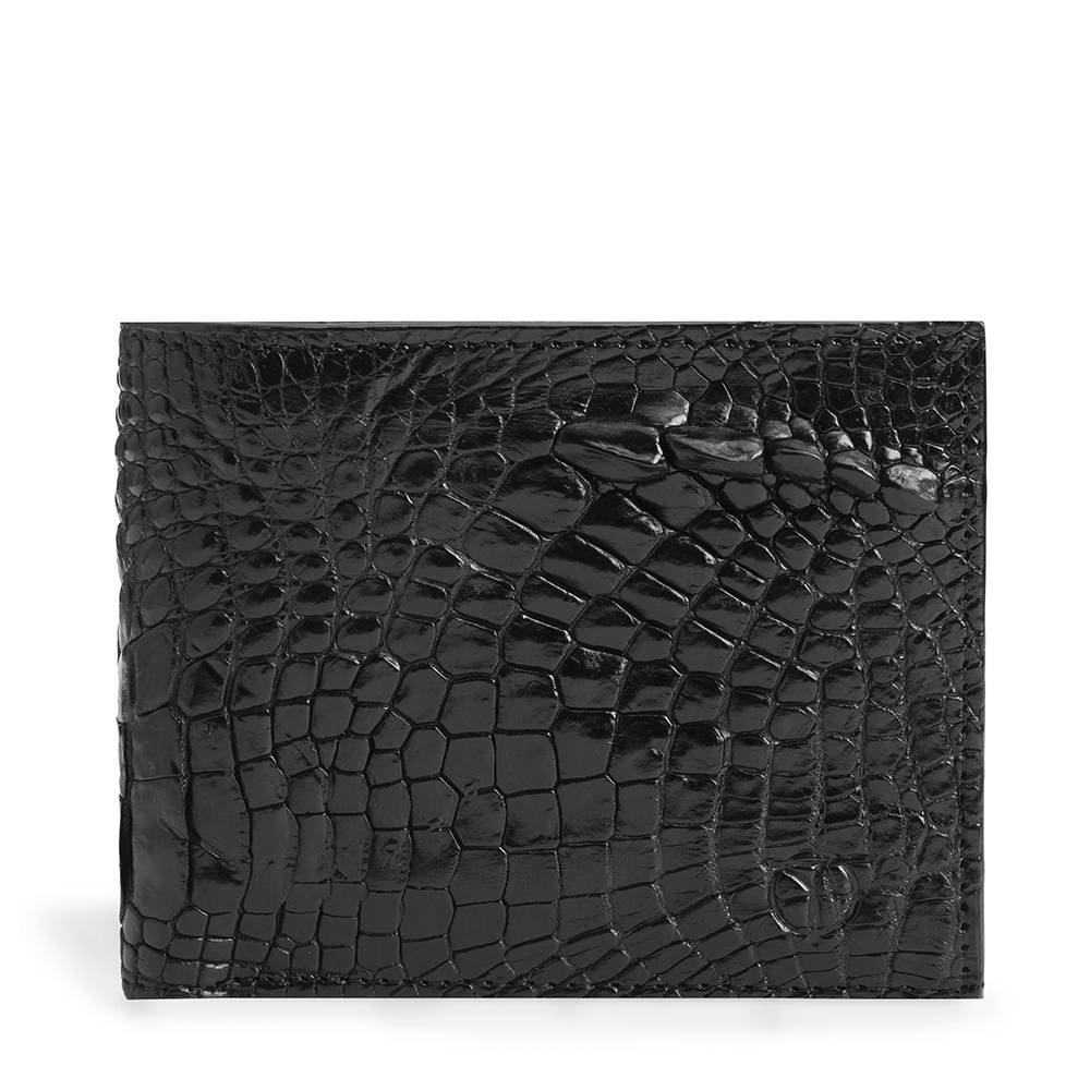 Bóp da cá sấu màu đen 2 mặt VTA1500N-C-D