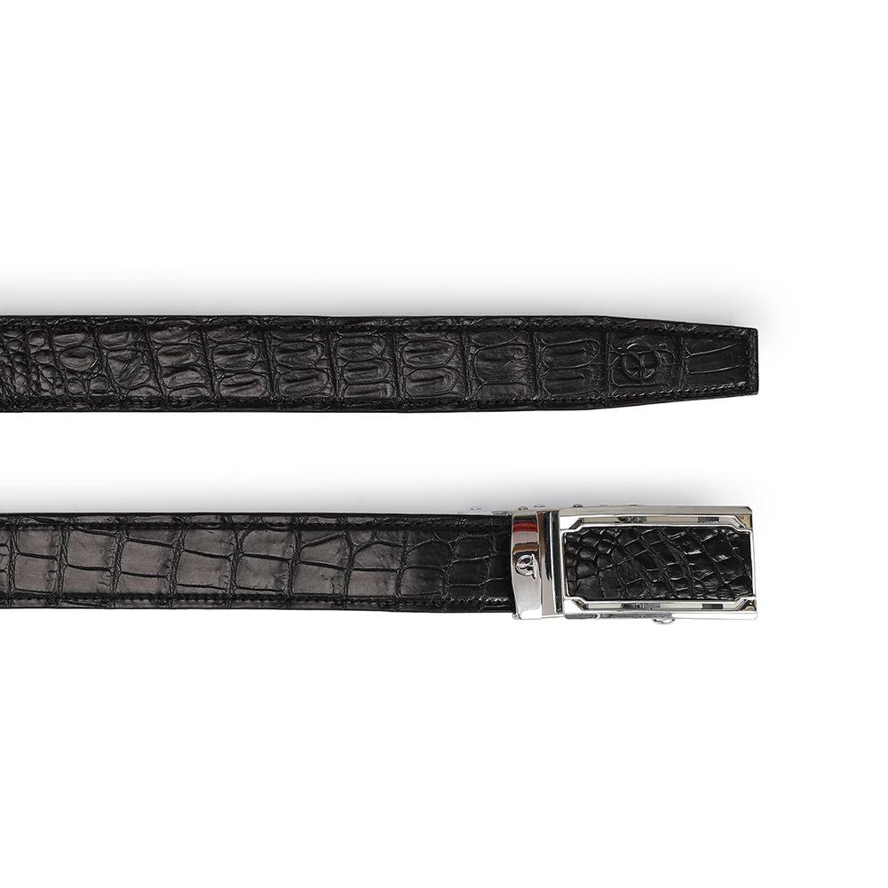 Thắt lưng da nam chân bụng cá sấu DTA1100-03B-B-D