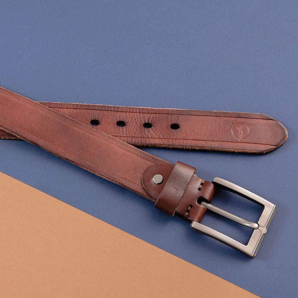 Thắt lưng nam quần jean màu cafe DJ692B-CF