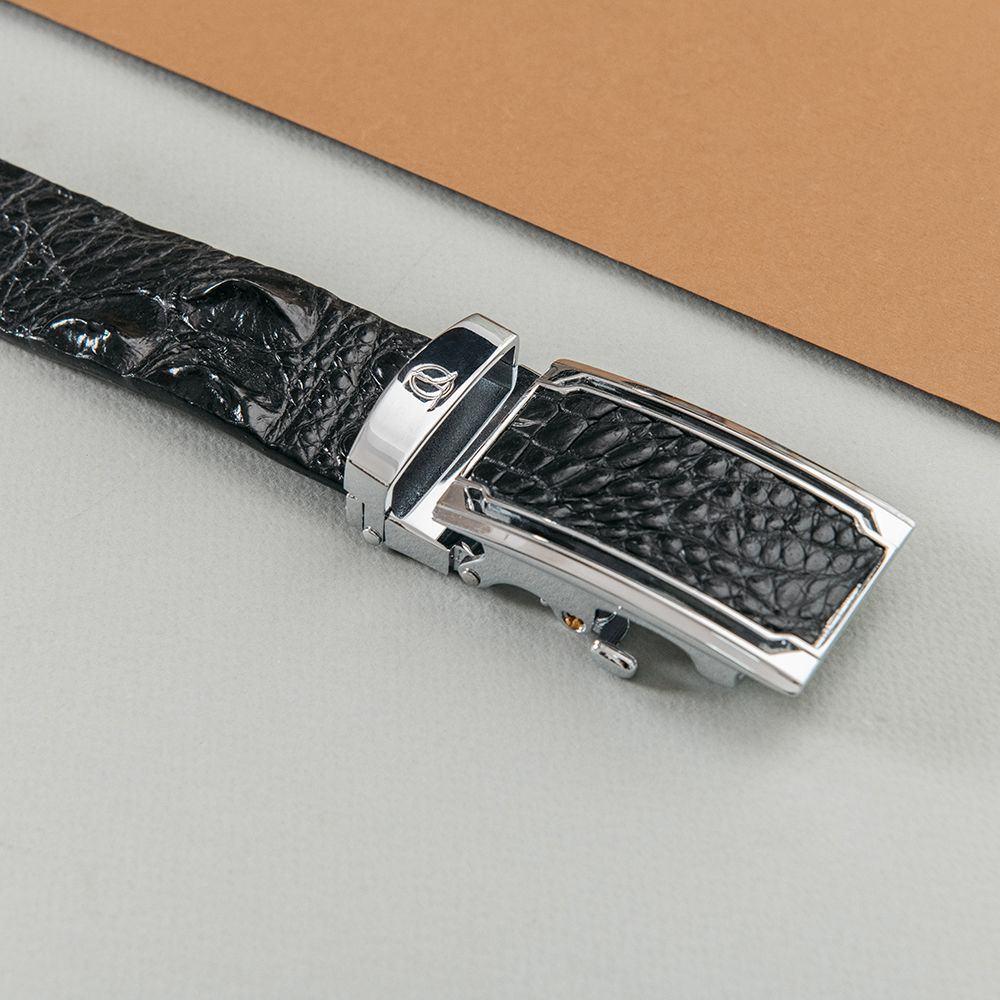 Thắt lưng nam gù cá sấu liền bản 3.5 cm DTA1400-07B-G-D