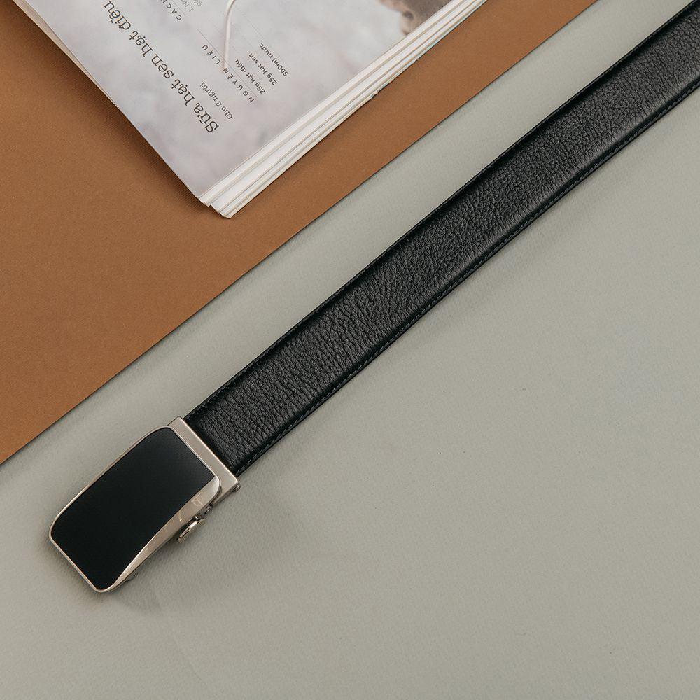 Thắt lưng da bò mặt khóa phối màu lịch lãm D520-FZ1217-RF