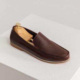 Giày lười da nam đế mềm GNTA1936-N