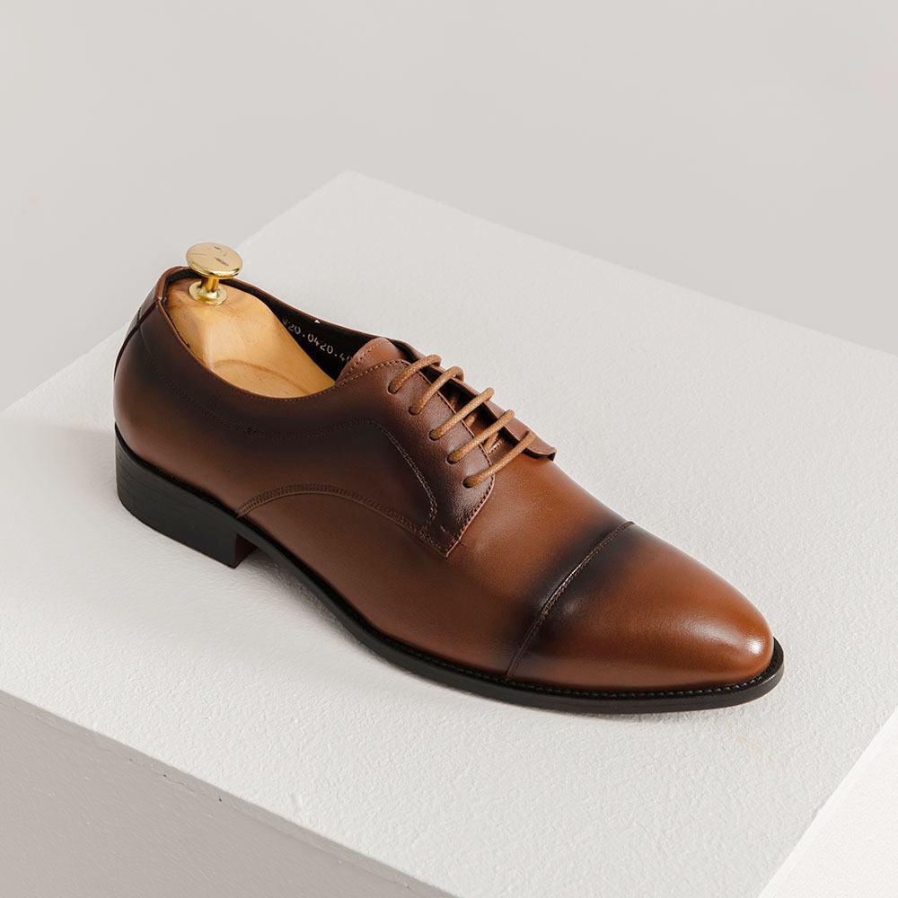Giày nam da bò màu vàng nâu GNTA0420-V