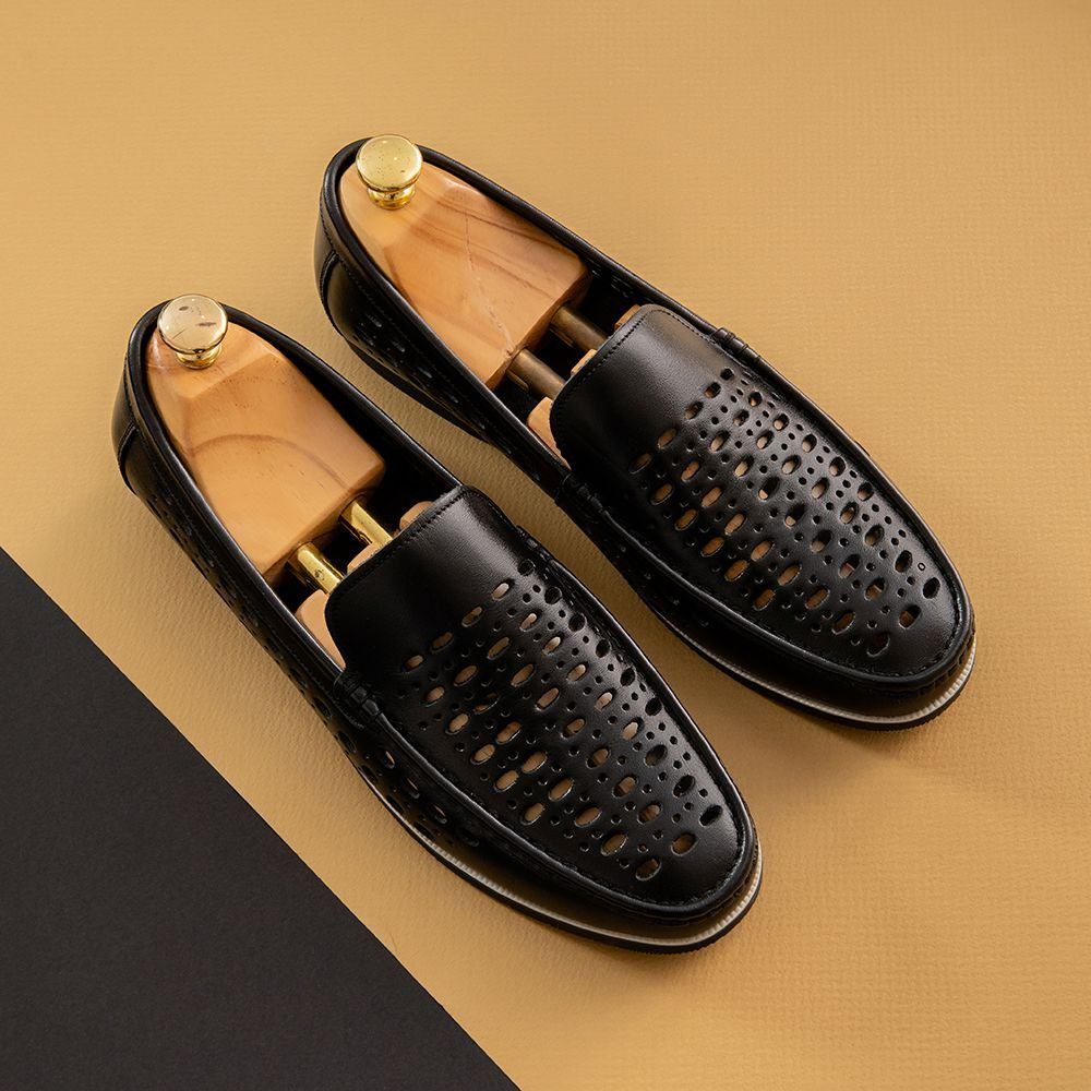 Giày da bò nam mùa hè thoáng khí GNTA05386-D
