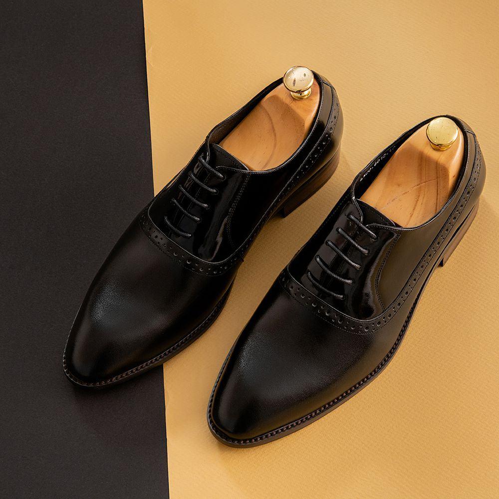 Giày tây nam trẻ trung họa tiết GNTA6012-D