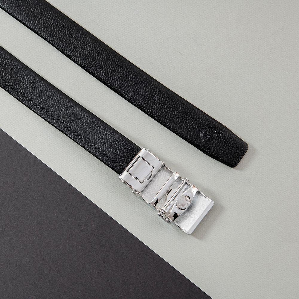 Thắt lưng nam mặt khóa xước D390-202006