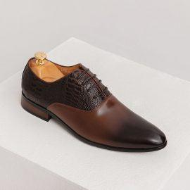 Giày tây nam trẻ trung vân da độc đáo GNTA06825-CF