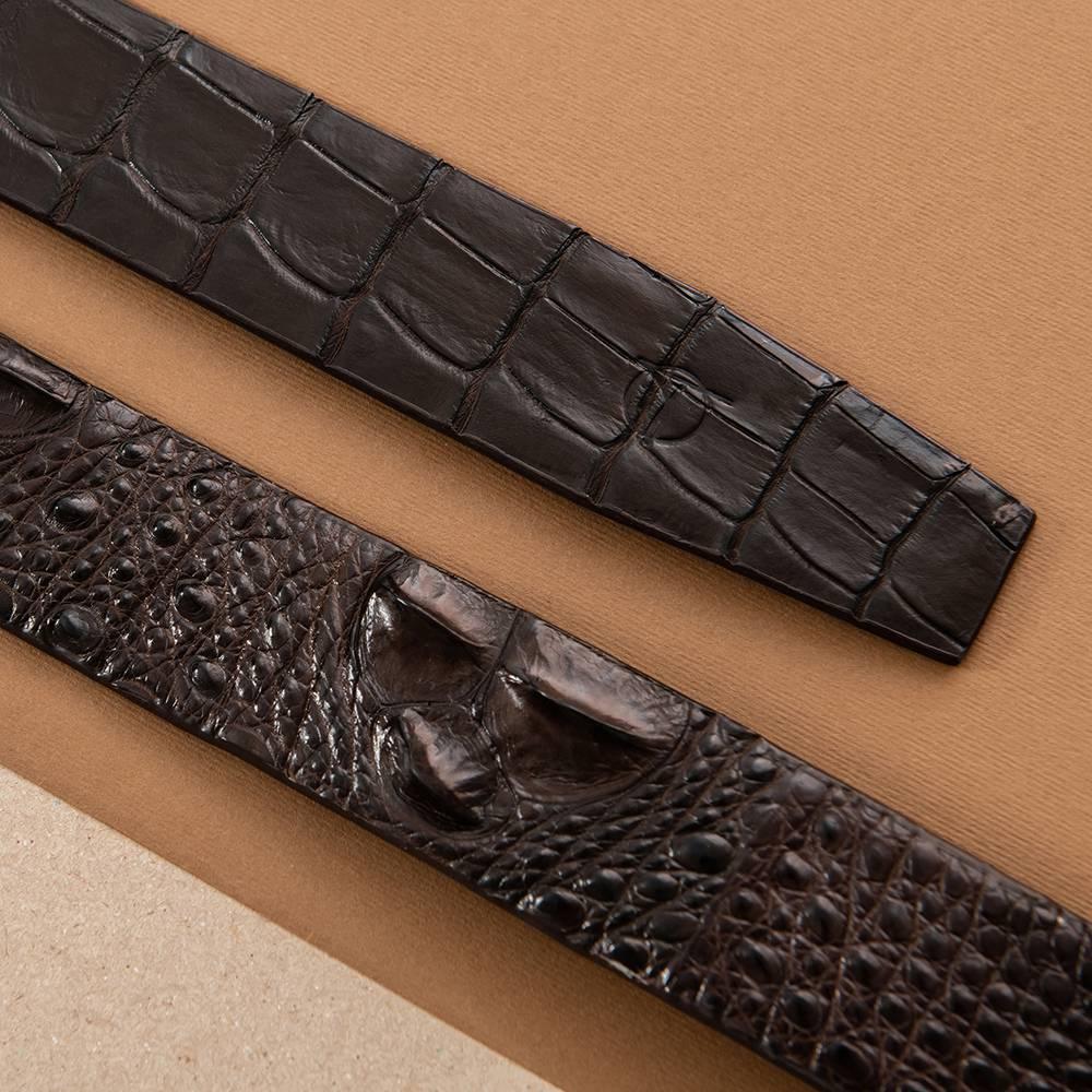Dây lưng cá sấu nối bản 4 cm DTA1300-08B-L-CF