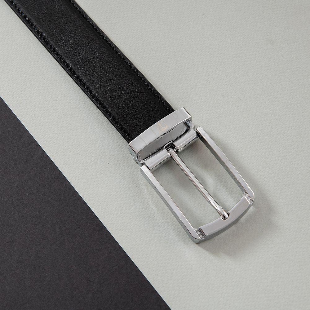 Dây lưng da bò mặt khóa bạc D480-1357-RF