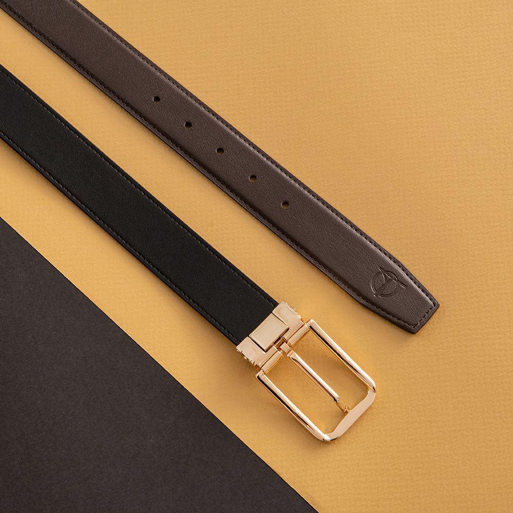 Dây lưng nam khóa cài mặt vàng D480-3283