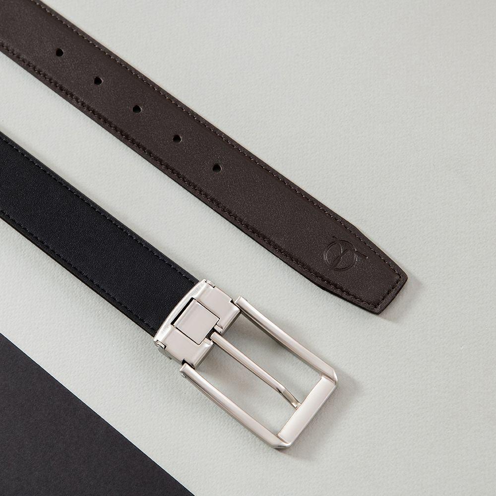 Dây thắt lưng da bò mặt khóa vuông D480-1327-RF