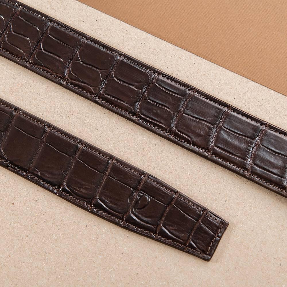 Dây thắt lưng nam da cá sấu nối bản 4 cm DTA1300-08V-B-CF