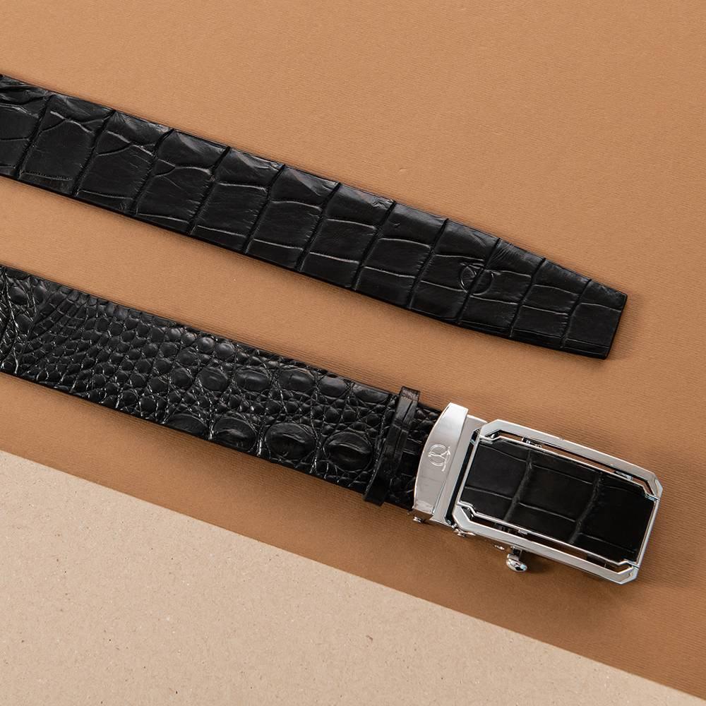 Thắt lưng cá sấu nam nối bản 4 cm DTA1300-08B-L-D