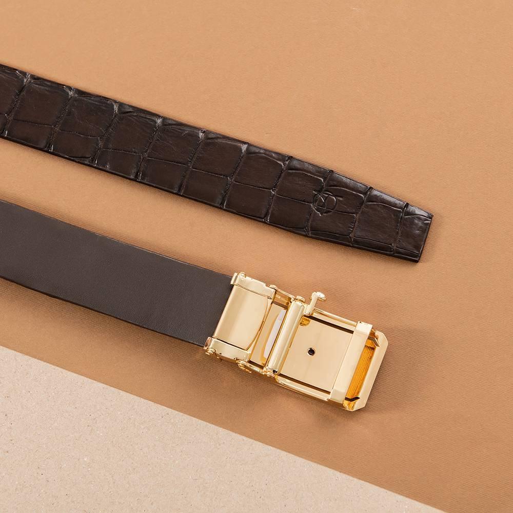 Thắt lưng da cá sấu nối bản 4 cm  DTA1300-08V-L-CF
