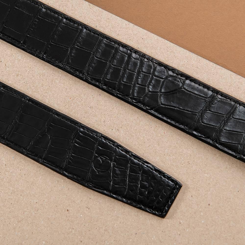 Thắt lưng da cá sấu nối bản 4 cm DTA1300-08B-B-D