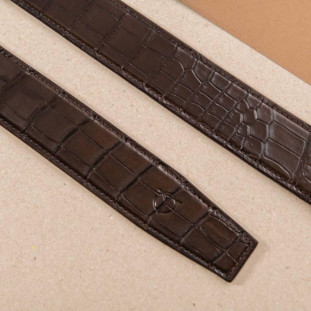Thắt lưng da nam da cá sấu liền bản 4 cm DTA1600-08V-T-CF
