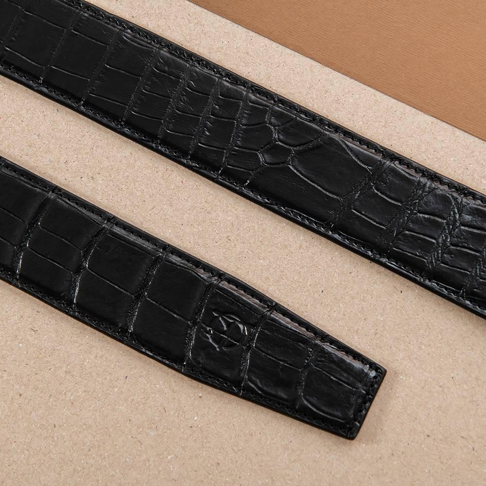 Thắt lưng da nam cá sấu liền bản 4 cm DTA1600-08V-T-D