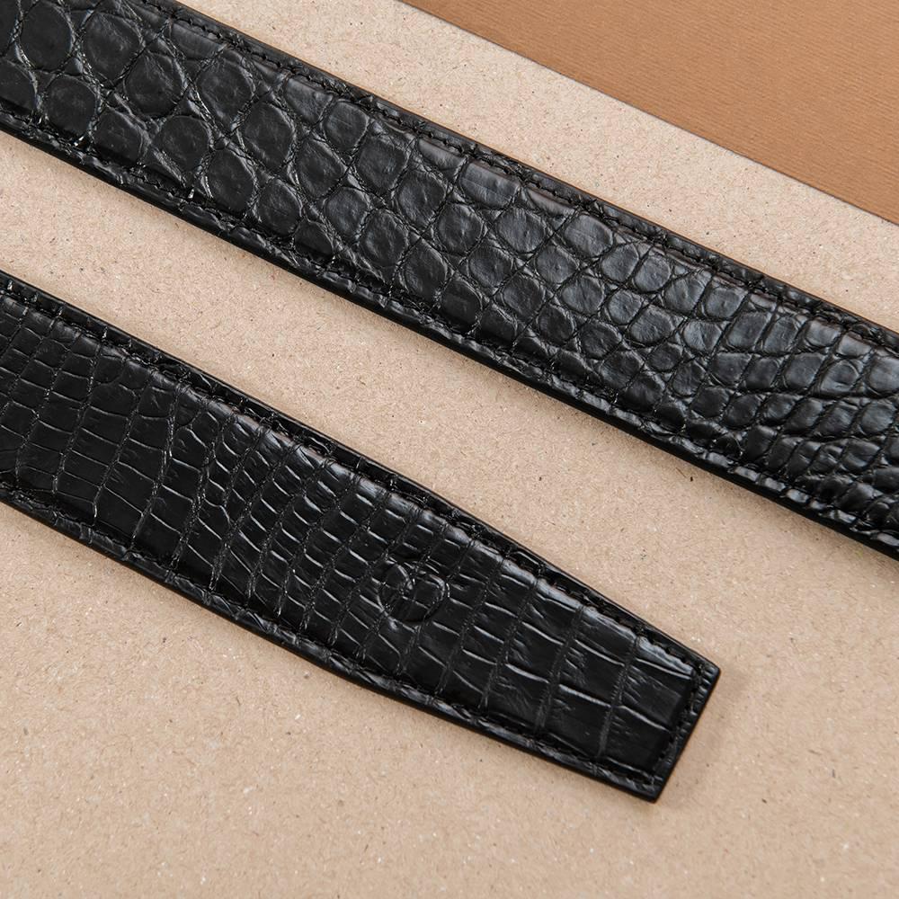 Thắt lưng nam cá sấu nối bản 4 cm DTA1300-08B-H-D