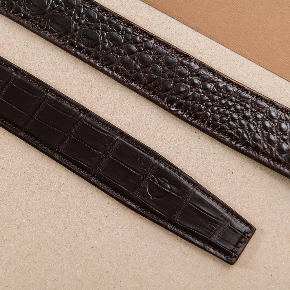 Thắt lưng nam da cá sấu nối bản 3.5 cm DTA1100-07V-H-CF