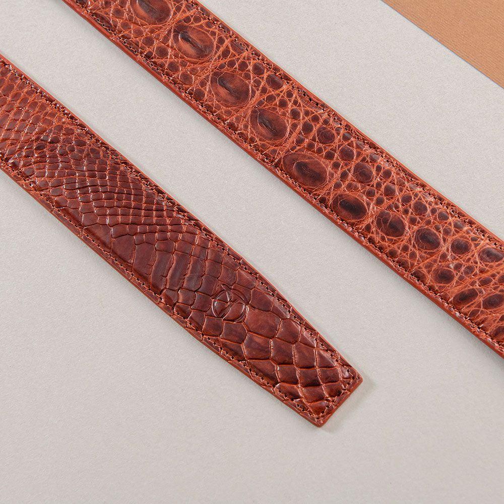 Dây lưng da cá sấu nối bản 3.5 cm DTA1100-07B-H-ND