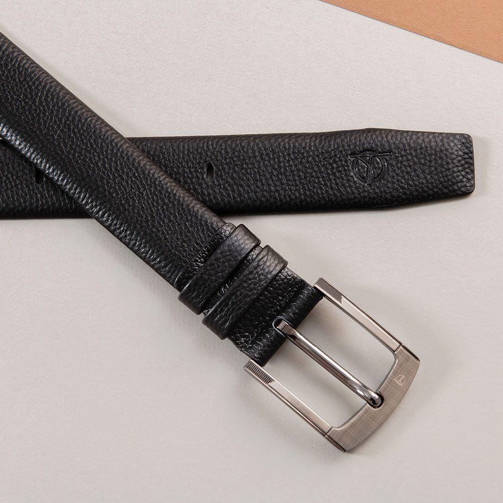 Thắt lưng da bò mặt khóa bo tròn D310A-12