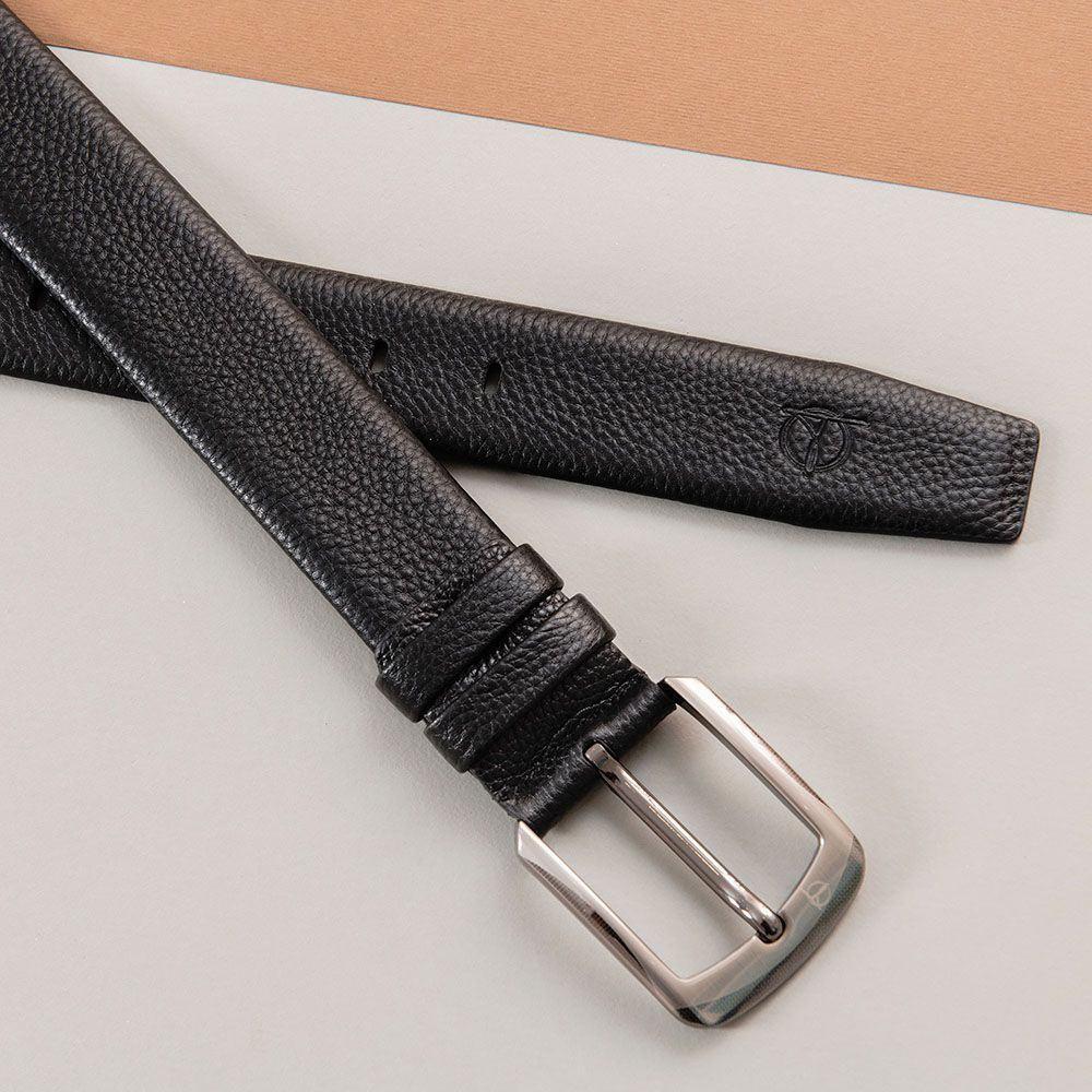 Thắt lưng nam da bò mặt khóa độc lạ D310A-13