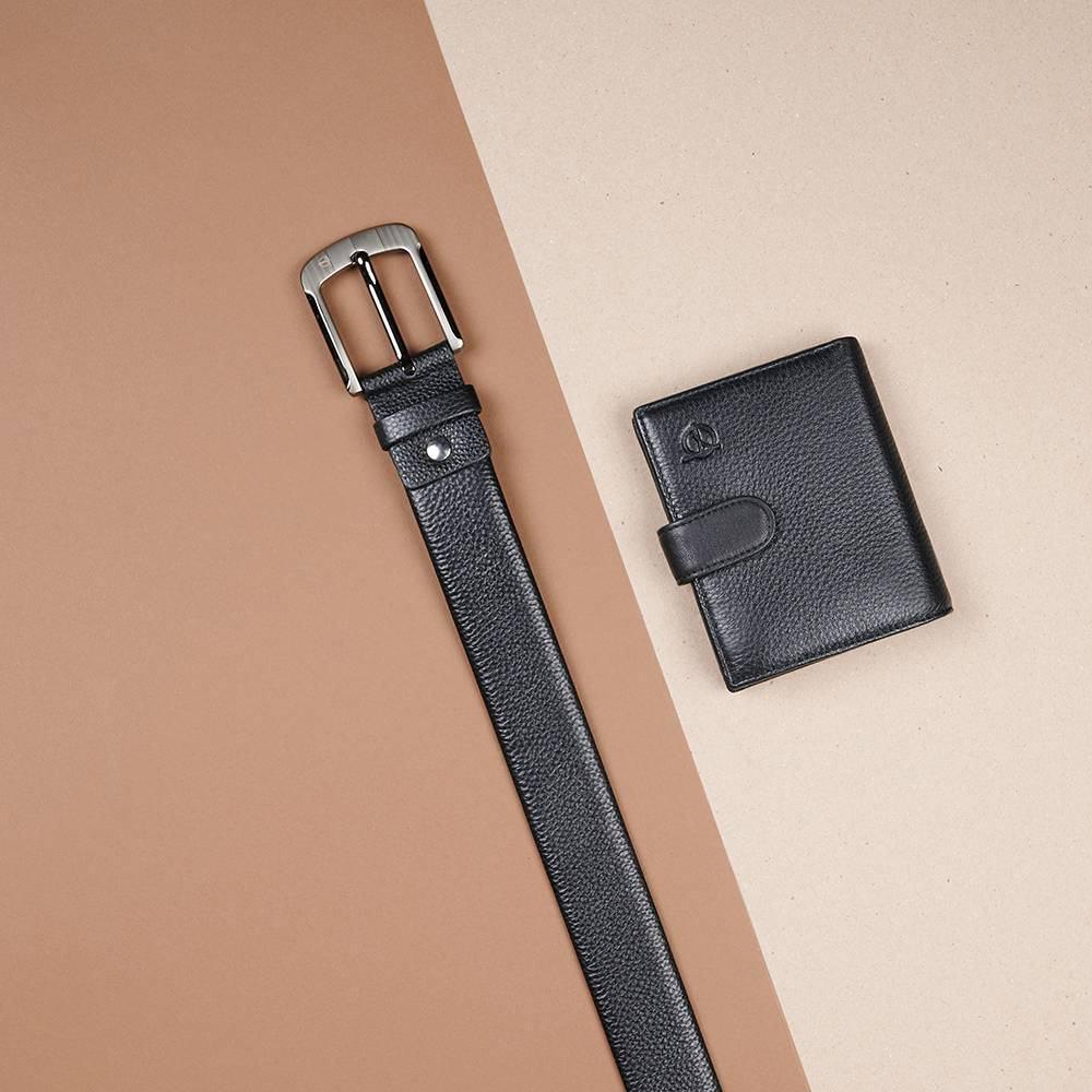 Thắt lưng nam da bò màu đen đẹp D310A-18