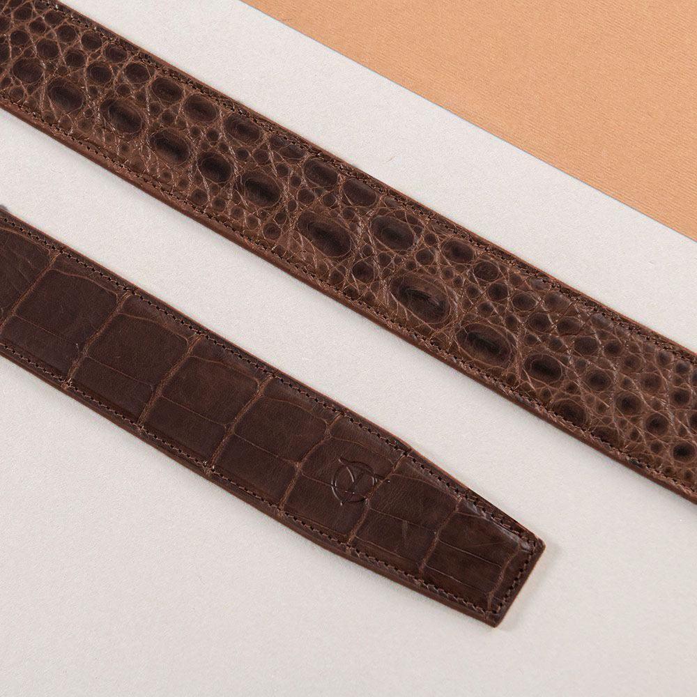 Thắt lưng nam da cá sấu liền bản 4 cm DTA1600-08B-T-CF