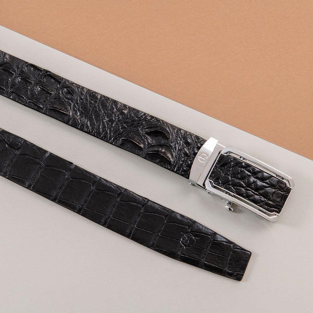 Thắt lưng nam gù cá sấu liền bản 4 cm DTA1600-08B-G-D