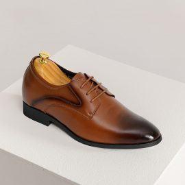 Giày cao nam màu nâu lịch lãm GCTATC1670-N